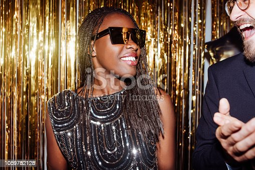 istock Beautiful African woman smiling 1059782128