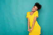 istock Beautiful african-american woman shy and confused 906777304