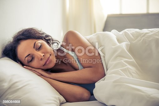 istock Beautiful Afro American woman 598064668