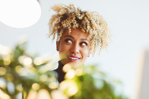 Beautiful Afro American Young Woman Stock Photo - Download Image Now