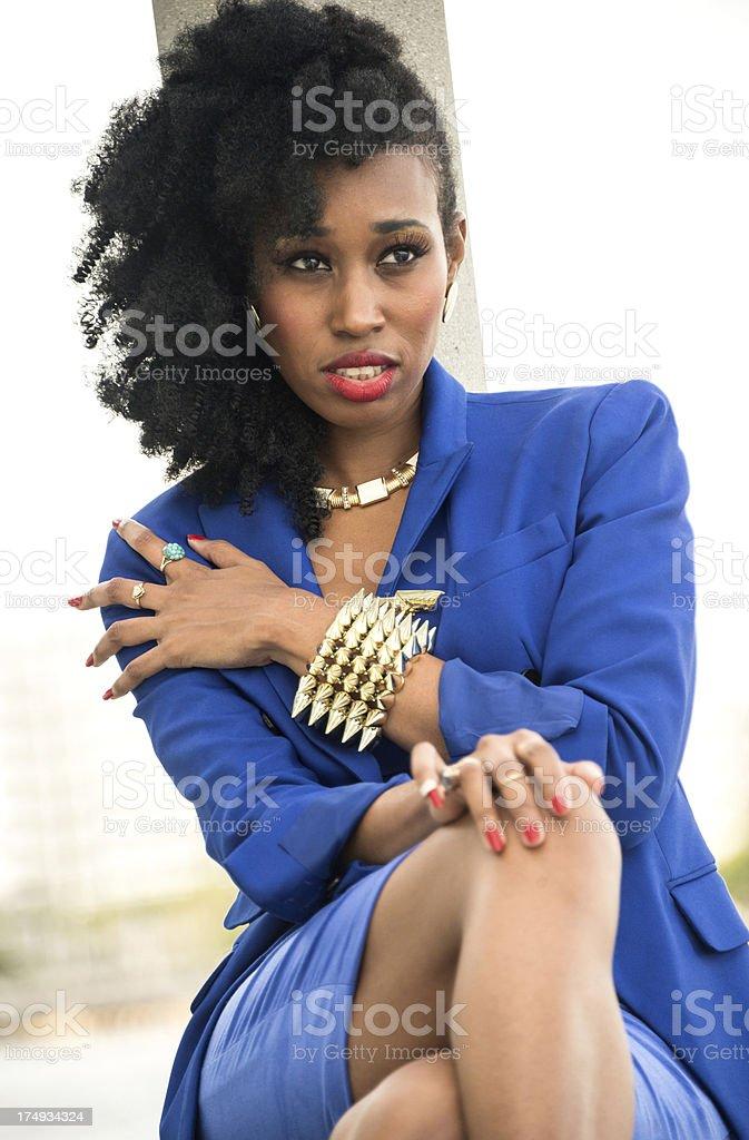 Beautiful Afro Caribbean Woman royalty-free stock photo