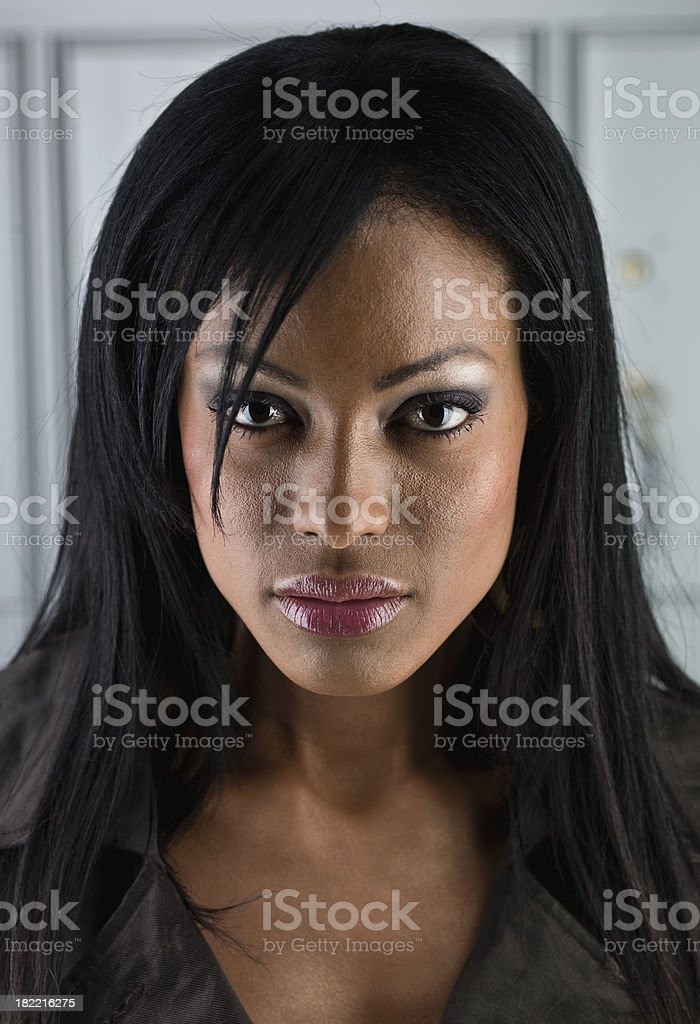 Beautiful Afro Caribbean woman stock photo