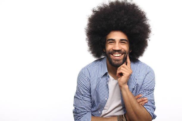 beautiful afro man - афро стоковые фото и изображения