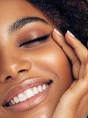 istock Beautiful afro woman 1287391844