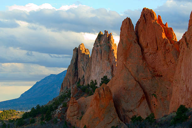 Beautiful Afternoon Light on Garden of the Gods stock photo