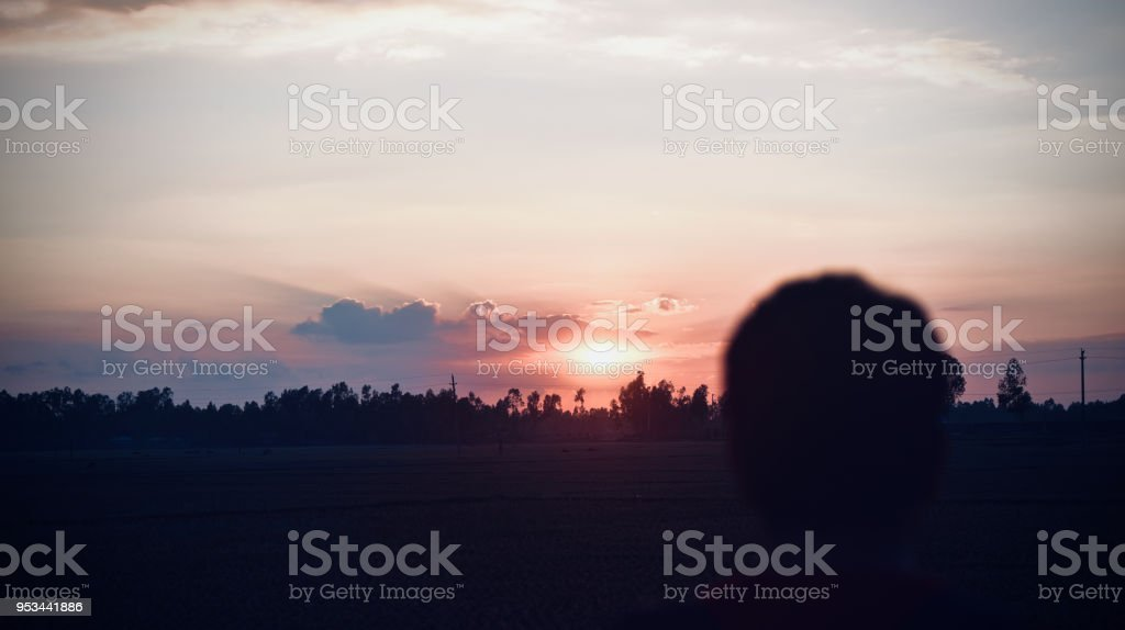 A beautiful afternoon sky isolated photograph stock photo