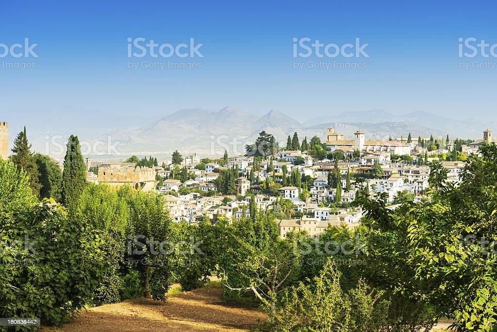 Beautiful Albaicín in Granada, Spain royalty-free stock photo