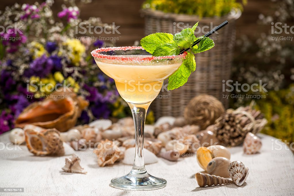beautiful alcoholic cocktail in a glass – Foto