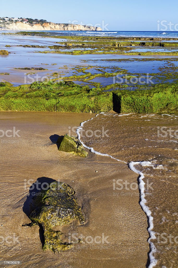 beautiful Algarve beach stock photo