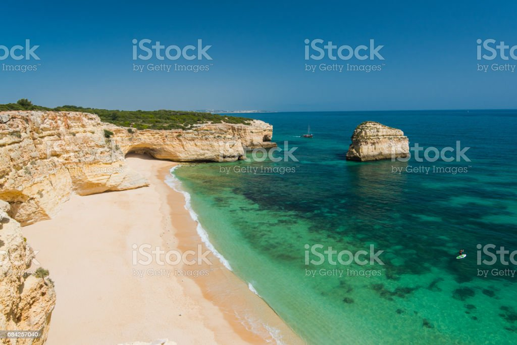 Beautiful Algarve coast with cristal clear water, Portugal. - Photo