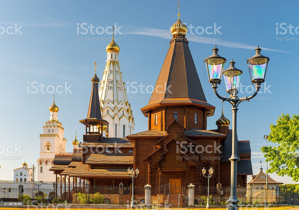 beautiful All Saints Church on a sunny day, Minsk, Belarus stock photo