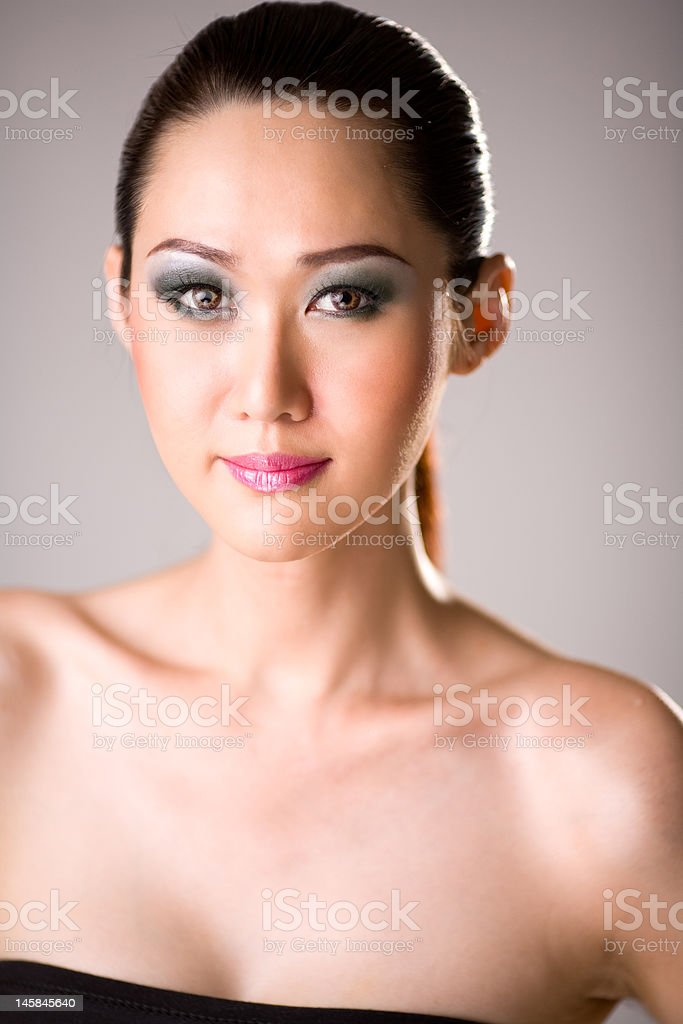 beautiful alluring asian woman stock photo