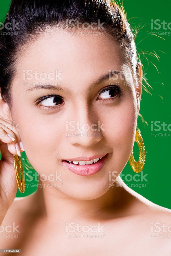 Beautiful alluring Smile royalty-free stock photo