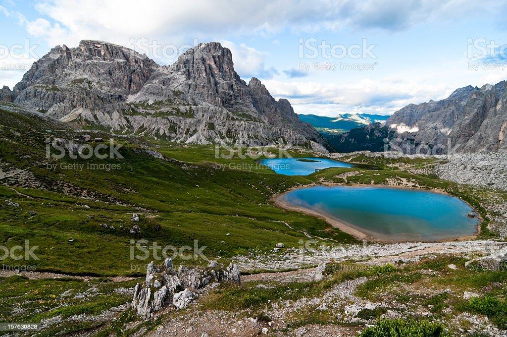 Beautiful alpine lakes stock photo