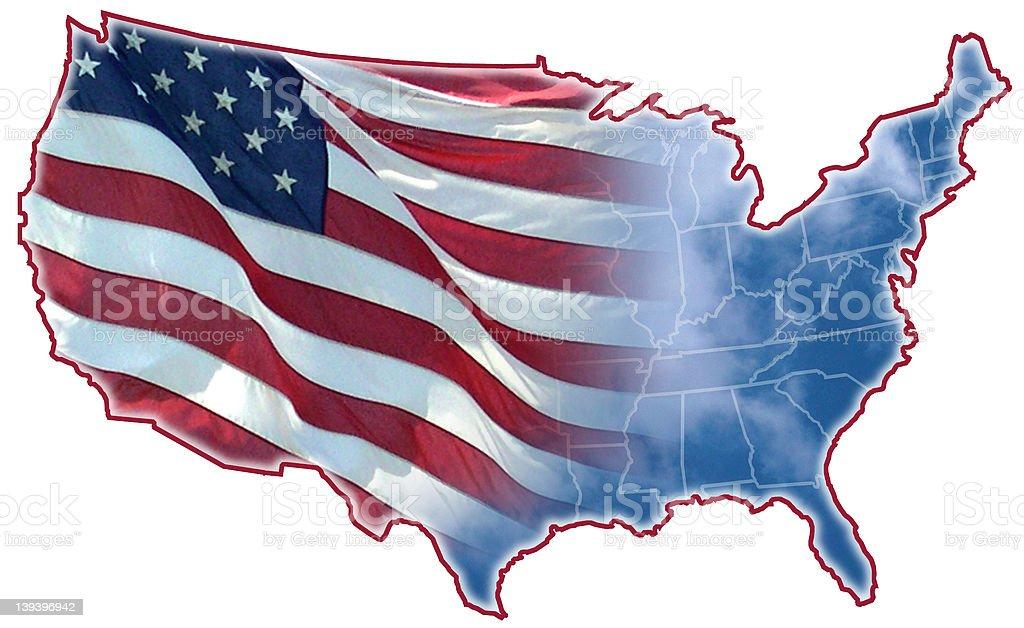 Beautiful America royalty-free stock photo