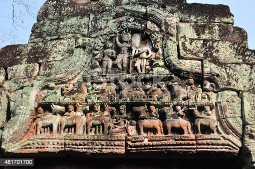 478956028 istock photo Beautiful ancient carving of Preah Khan at Siem Reap,Cambodia 481701700