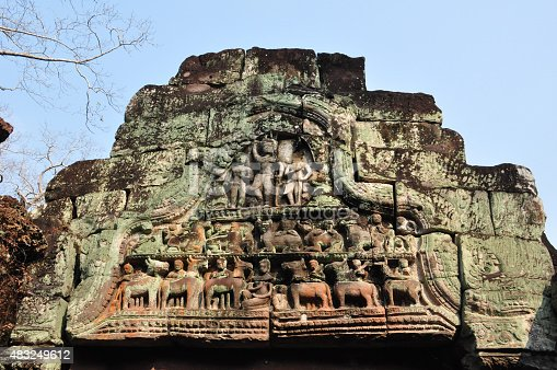 478956028 istock photo Beautiful ancient carving of Preah Khan  in Cambodia 483249612