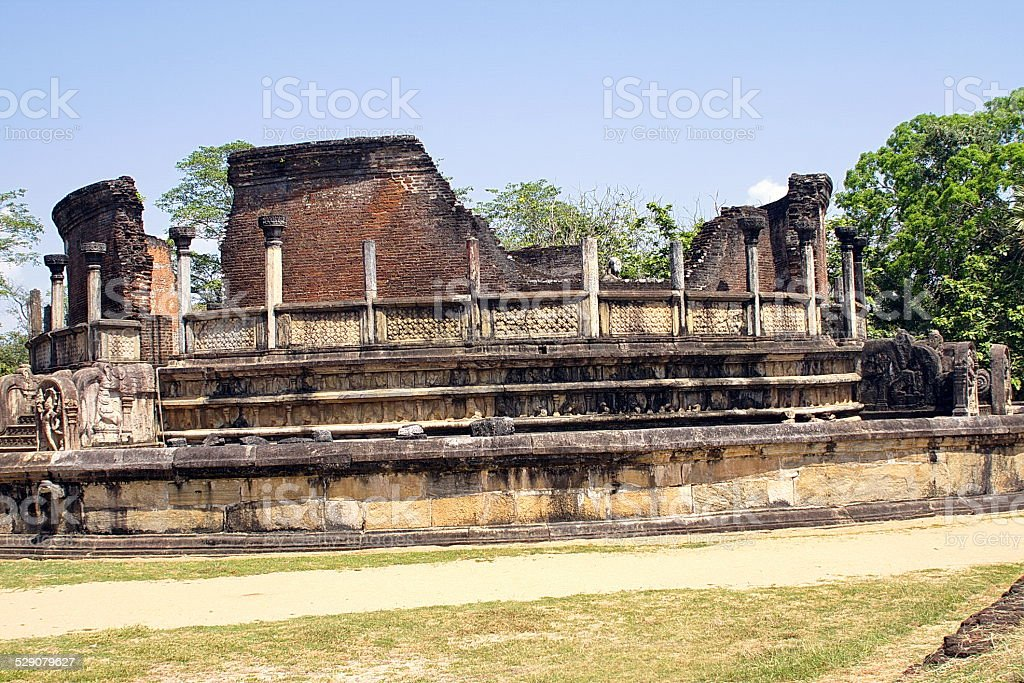 Beautiful ancient hinduist temple stock photo