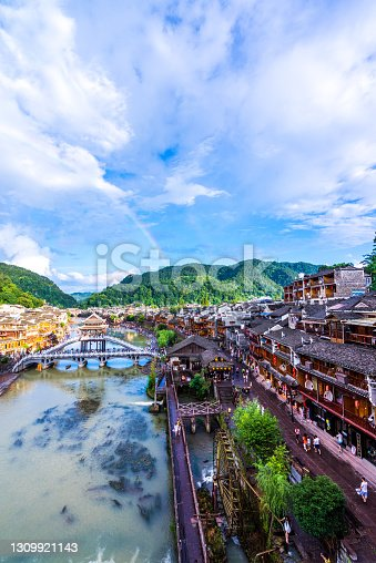 Beautiful ancient village, Fenghuang county, Hunan, China