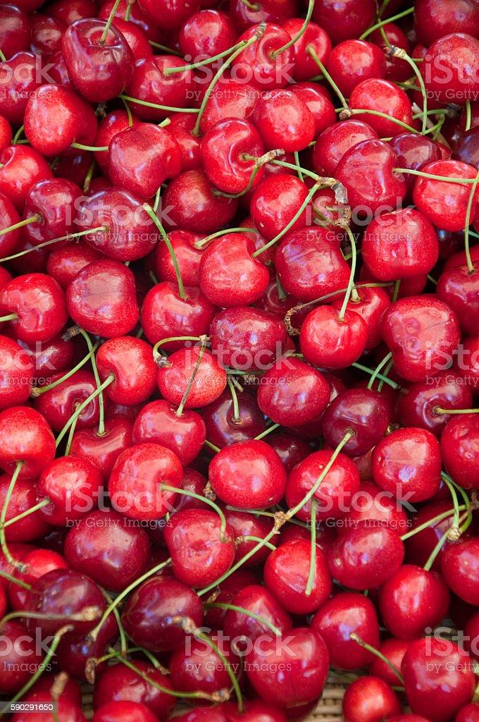 beautiful and delicious red cherries Стоковые фото Стоковая фотография
