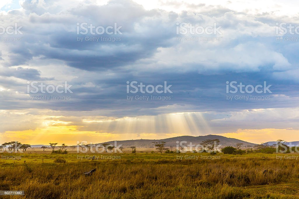 Beautiful and dramatic african landscape stock photo