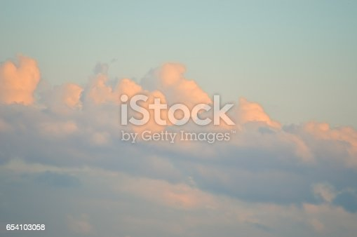 917116520 istock photo Beautiful and dramatic sky view after the sunset 654103058