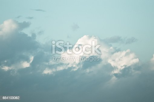917116520 istock photo Beautiful and dramatic sky view after the sunset 654103062