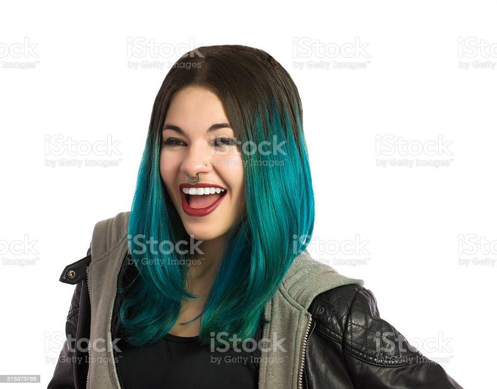 Beautiful and happy girl stock photo