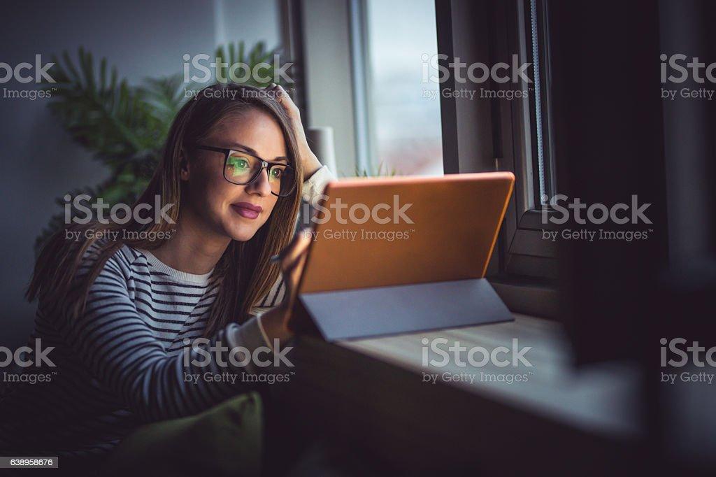 Beautiful and hardworking - Lizenzfrei Akademisches Lernen Stock-Foto