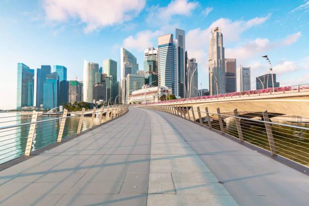 Schöne und moderne Singapur StadtSteg Blick – Foto