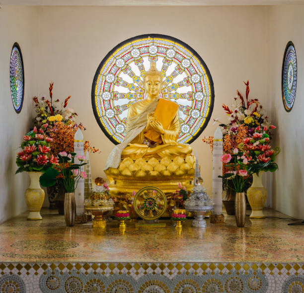 Beautiful and peaceful Buddha at Wat Pha Sorn Kaew in Phetchabun, Thailand Beautiful and peaceful Buddha at Wat Pha Sorn Kaew in Phetchabun, Thailand religious symbol stock pictures, royalty-free photos & images