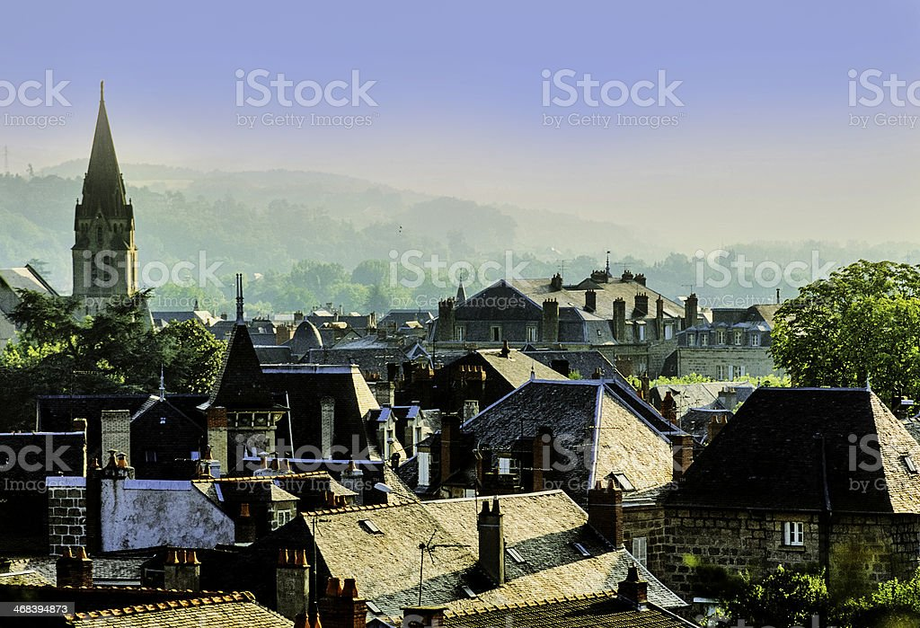 Beautiful and quiet village of Europe stock photo