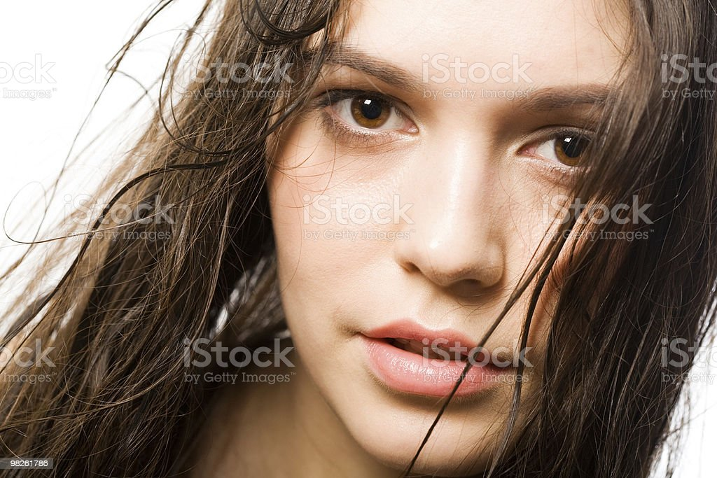beautiful and sexual woman royalty-free stock photo