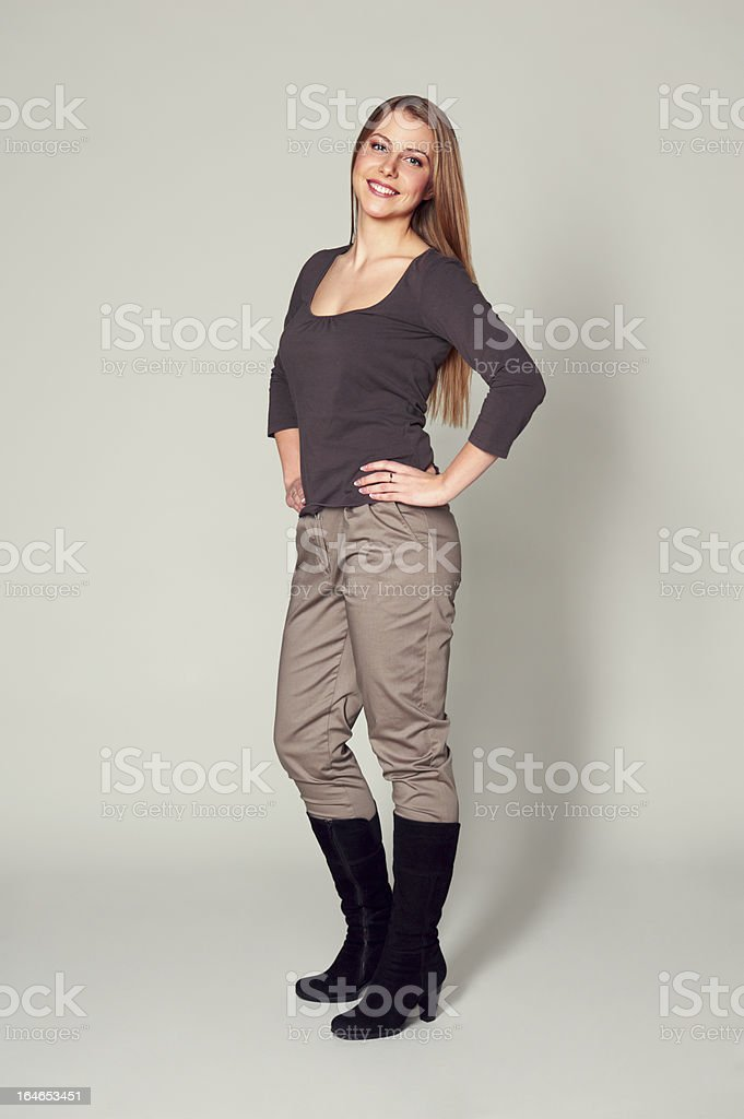 beautiful and smiley woman royalty-free stock photo