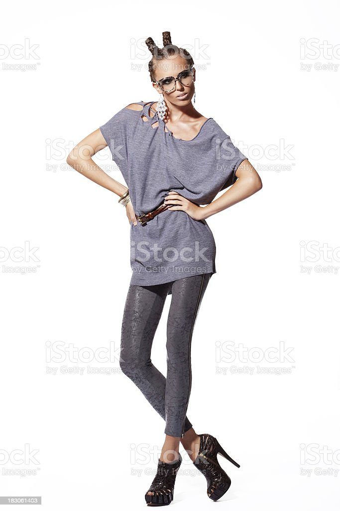 Beautiful and stylish girl royalty-free stock photo