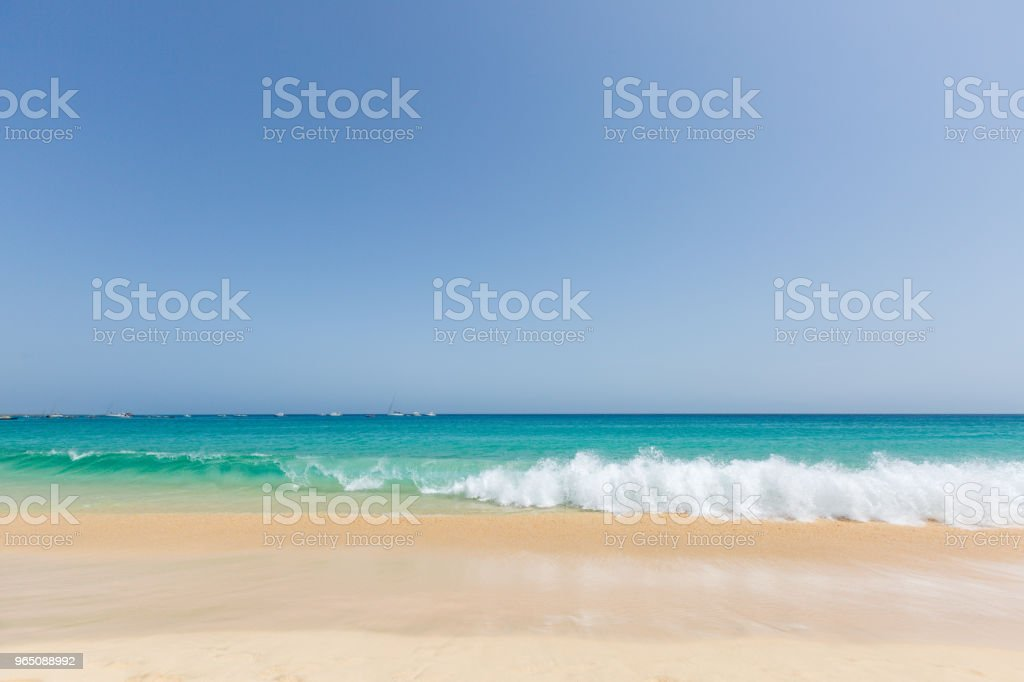 Beautiful and sunny seascape royalty-free stock photo