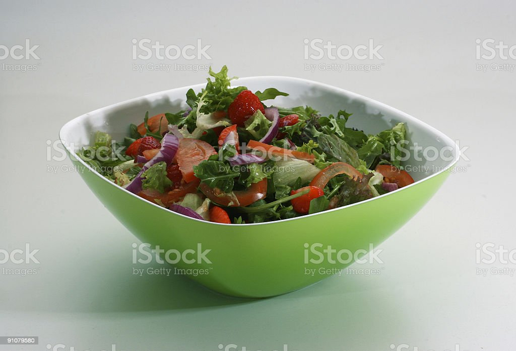 Beautiful and tasty green salad royalty-free stock photo