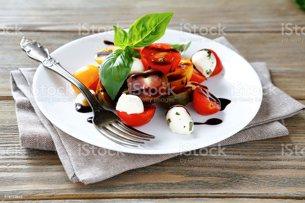 beautiful and tasty salad stock photo