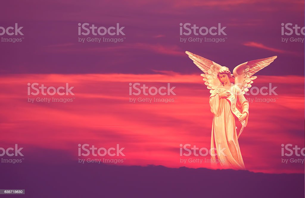 Beautiful angel in heaven royalty-free stock photo