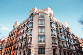 A beautiful apartment building in Madrid, Spain