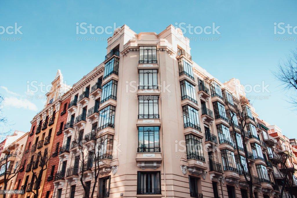 Beautiful apartment building stock photo