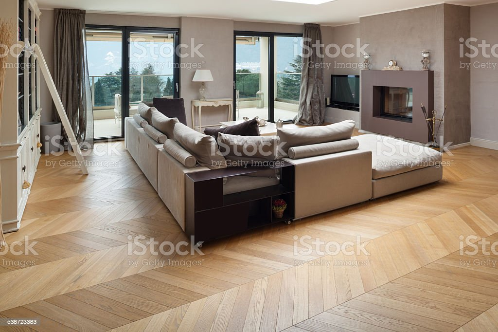 beautiful apartment furnished stock photo