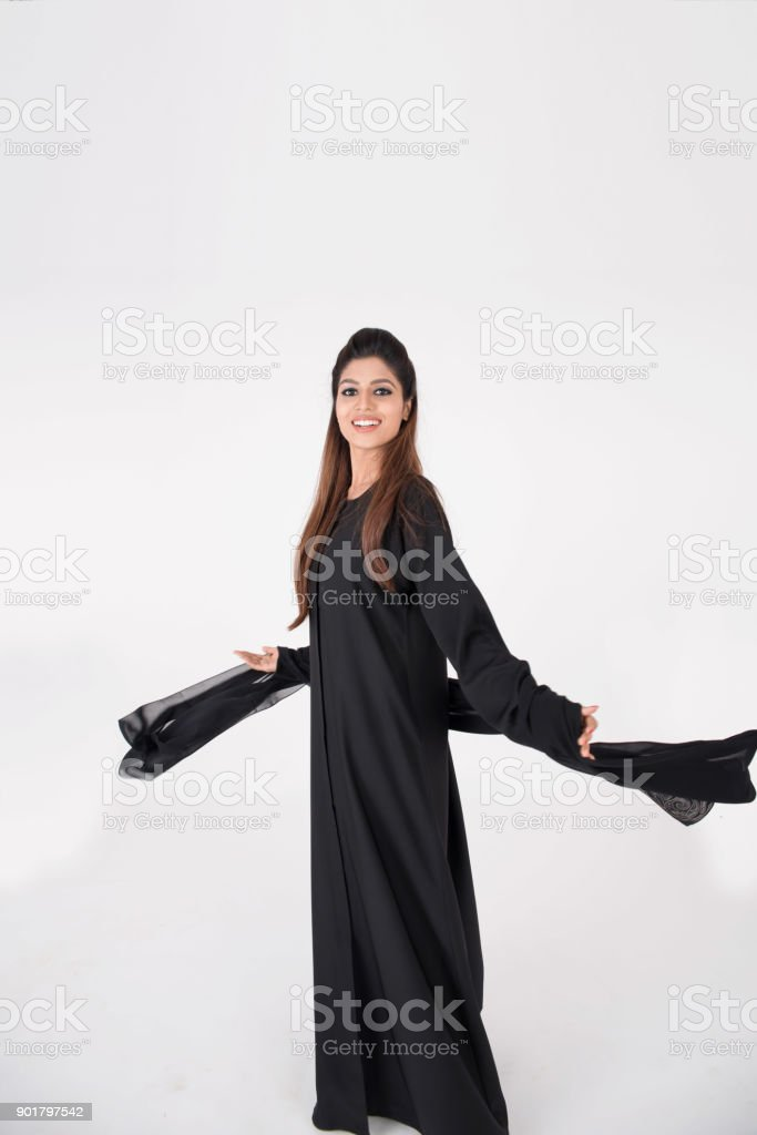 837461885 Beautiful Arab Woman In Traditional Dress Dancing Stock Photo & More ...