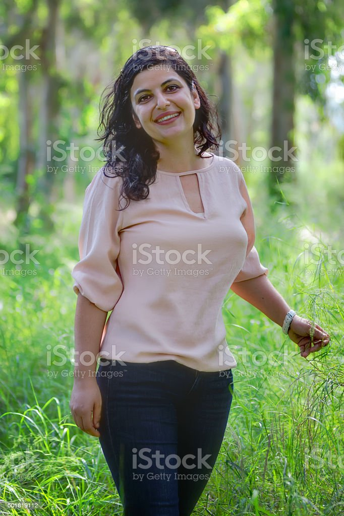Beautiful arabic girl stock photo