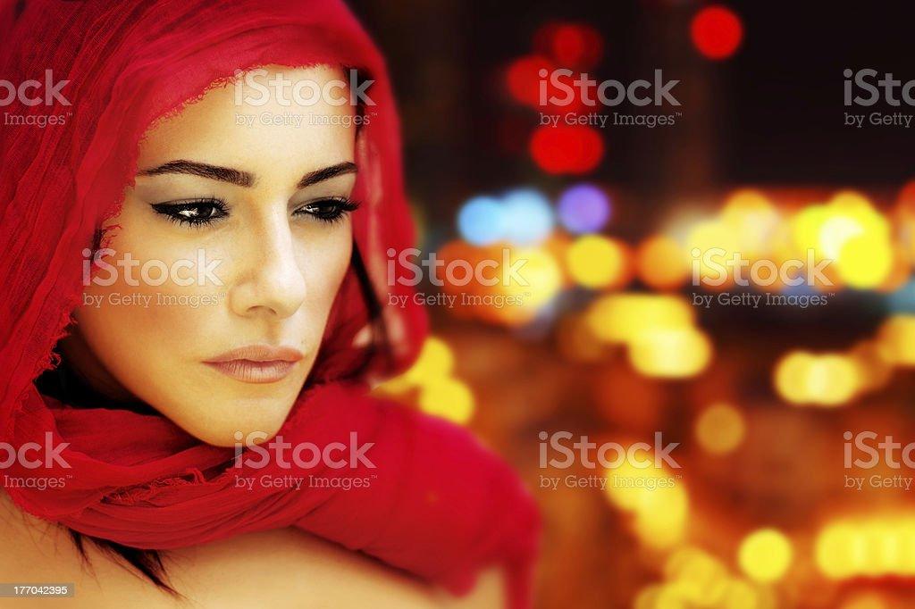 Beautiful arabic woman stock photo