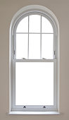 istock beautiful arched window with clipping path 185226099