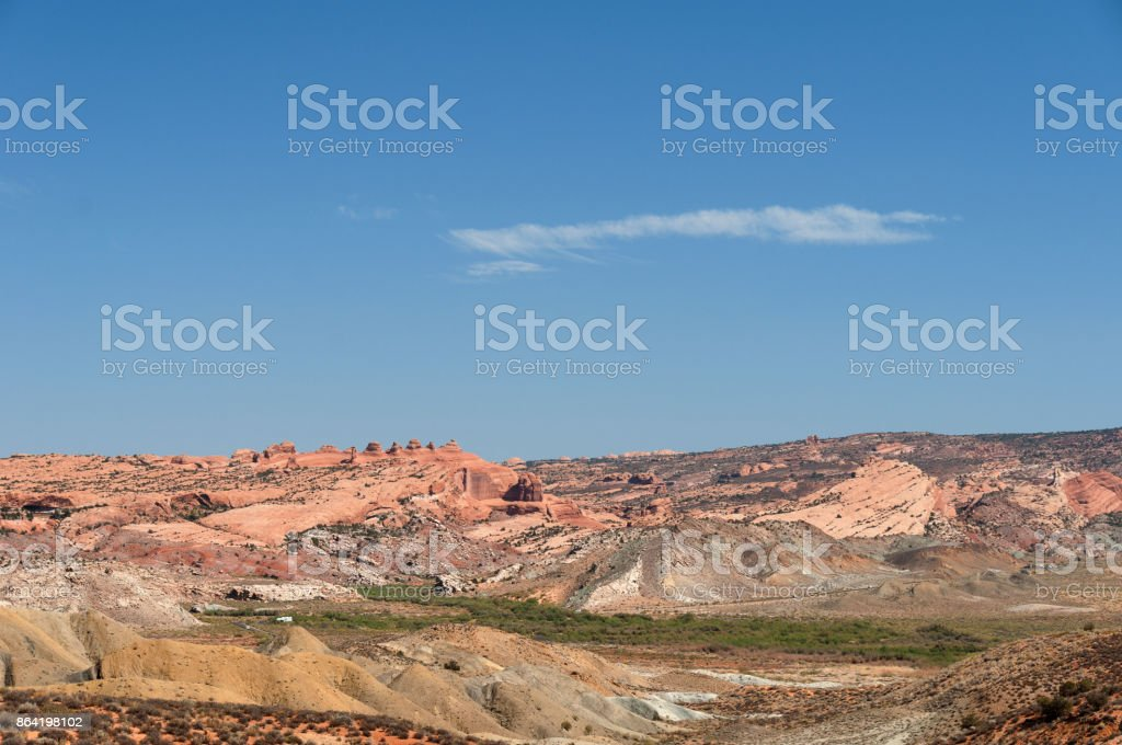 Beautiful Arches National Park Landscape, Utah, USA royalty-free stock photo