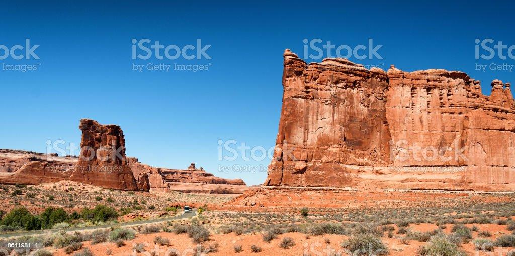 Beautiful Arches National Park Landscape, Utah, USA royalty-free stock photo
