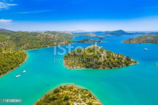 istock Beautiful archipelago in nature park Telascica on the island of Dugi Otok in Croatia 1161992641