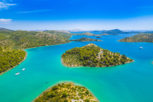 istock Beautiful archipelago in nature park Telascica on the island of Dugi Otok in Croatia 1161992641